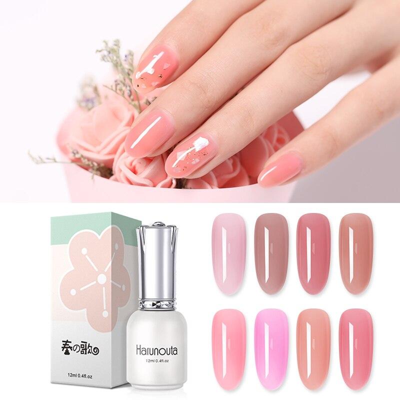Harunouta 12ml Nude Pink Color Gel Nail Polish Natural