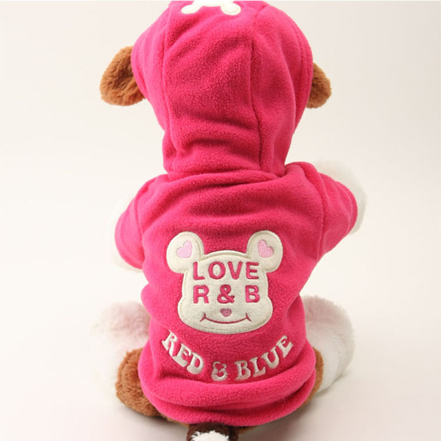 New Dog Clothes For Yorkies Puppy Fleece Coat Pet Dog Winter Clothes Cute Bear Warm Chihuahua Hoodies Outfit For Dog 20S1