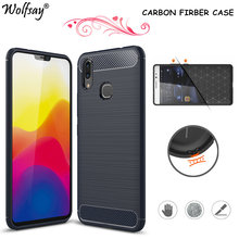 "Wolfsay Telefoon Cover Bbk Vivo X21 Case 6.28 ""Shockproof Zachte Rubberen Siliconen Shell Voor Vivo X21 Case Sfor Vivo X 21 Anti-Flip Tas(China)"