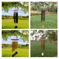 Wind Chimes, Hollow Aluminum Tubes Tuned 37 inch Music Wind Chime with S Hook for Indoor and Outdoor