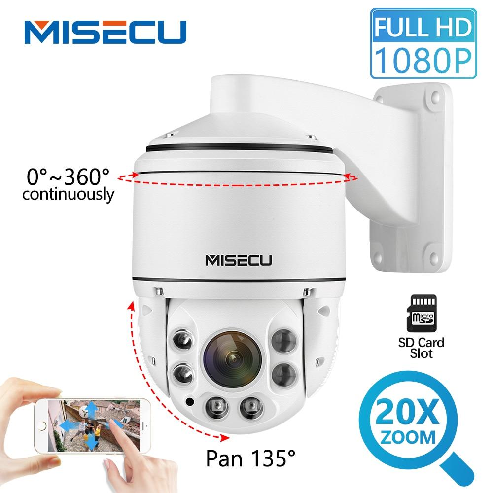 MISECU H.265 1080 P PTZ Macchina Fotografica del IP Esterna SONY IMX323 Onvif 20X ZOOM Mini Speed Dome Fotocamera Waterproo 2MP P2P telecamera di sicurezza