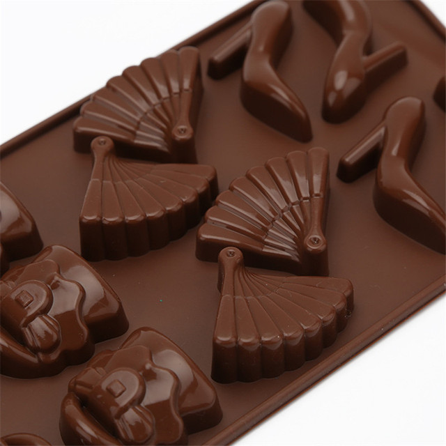 3D Cake Tools Cupcake Baking Tray Kitchen Bakeware Silicone Non-Stick Heeled shoes Cake/ Ice Cube Tray/Chocolate Pudding Mold