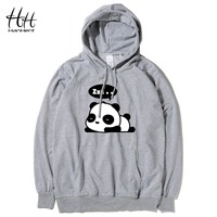 HanHent Sleep Panda Hoodies Men Cute Animal Hooded Sweatshirts Pullover Fashion Cotton Creative Funny Thin New