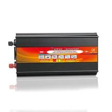 2000W Solar photovoltaic Inverter DC 12V 24V TO AC 110V 220V car Travel Power Supply Control 2 universal socket LCD Display