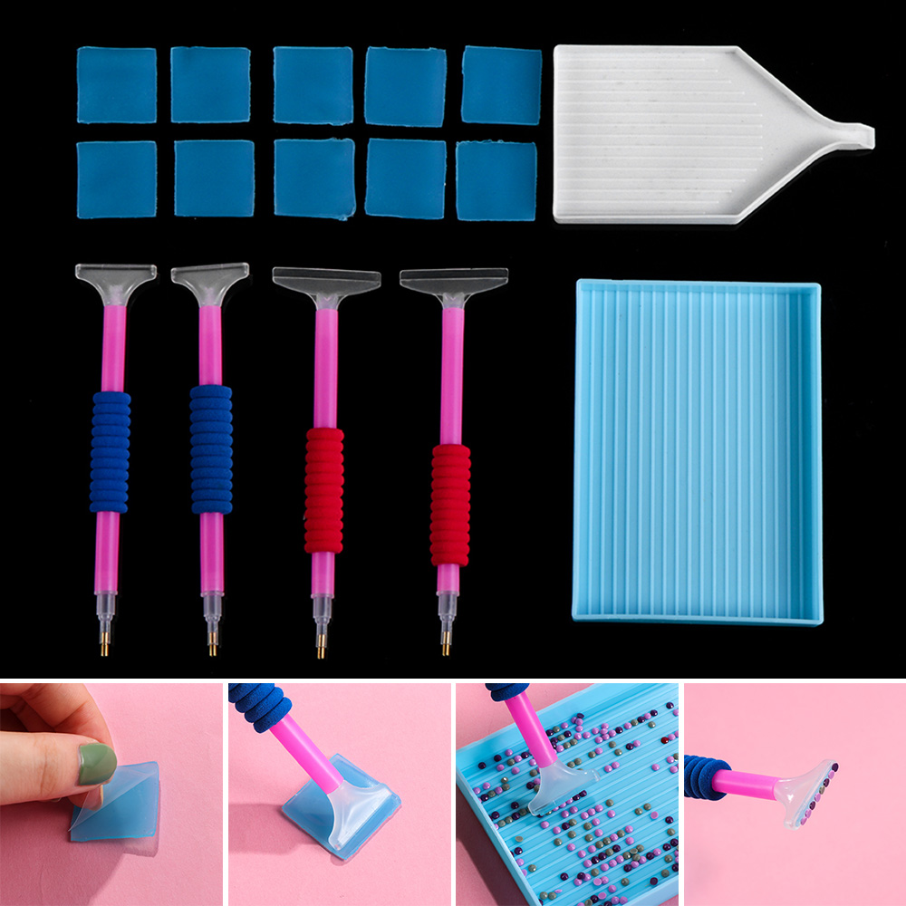 Stitch Big Trays Embroidery Corrector Point Drill Pen 5D Diamond Painting Kits