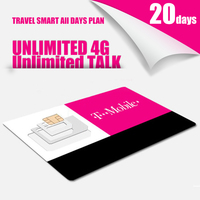 TRAVEL SMART US 20 Days Plan T Mobile MOBILE PHONE SIM Card With Unlimited TALK TEXT