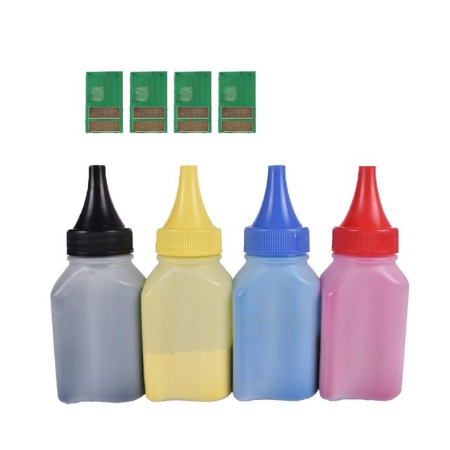 4 piezas CF530A CF533A 205A Color de polvo de tóner + 4 piezas chip Compatible para HP LaserJet Pro M181fw M180n