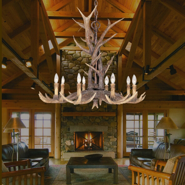 Whitetail 8 Antler Chandelier - SALE 110-220V free shipping