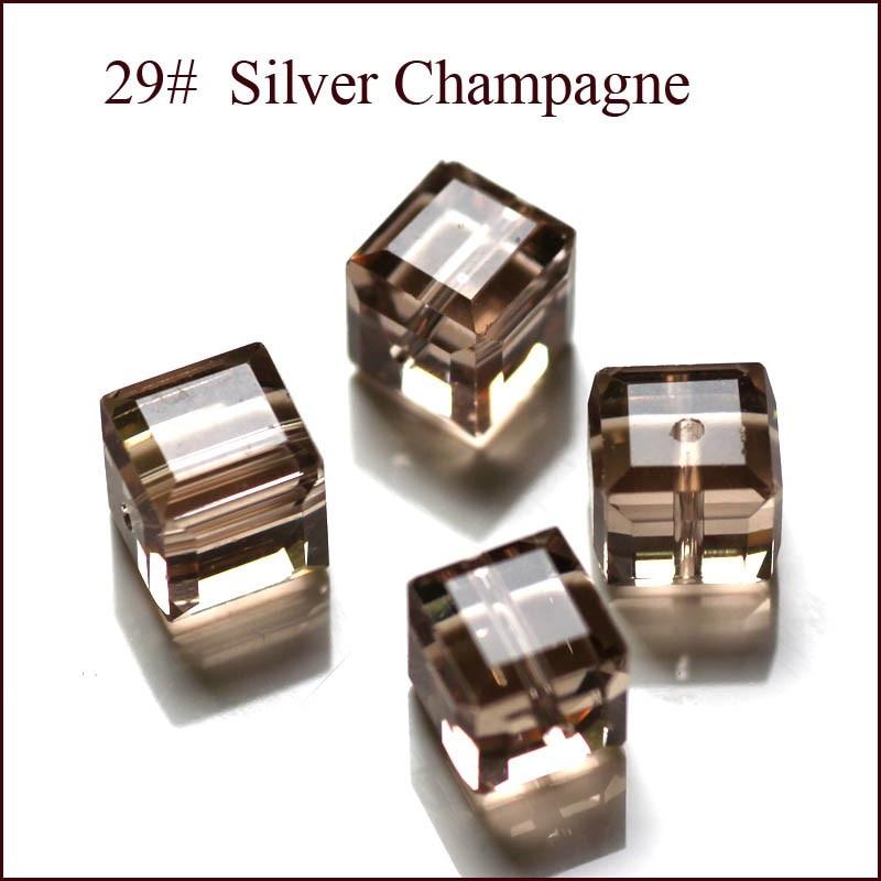 100 Teile / los Kristall Perlen 5601 Quadratwürfelform 8x8 MM 18 - Modeschmuck - Foto 4