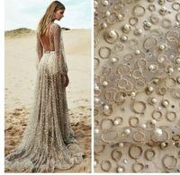 Black Blue Gold Grey White Stock New Off White Large Pattener Beaded Wedding Dress Lace Fabric