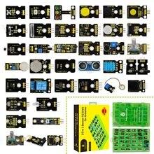 2019 novo! keyestudio novo sensor starter v2.0 kit 37 em 1 caixa (sem placa principal) para arduino kit
