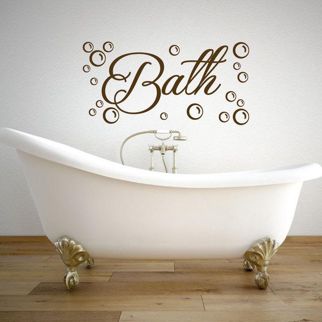 Blasen Und Bad Vinyl Poster Bad Tapeten Badewanne Decals Reinigung ...