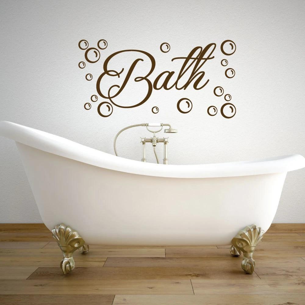Tapisserie bain salle de bain hammam Murale Sticker Baden eau uss088