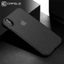 Cafele Phone Case For iPhone X Ultra Thin Case Cover Matte Hard PP On iPhone X 10 For Phone Back Protective Cases Free Shipping(China)