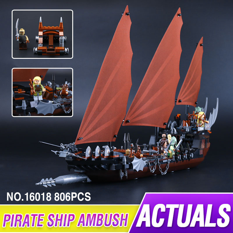 New Lepin 16018 Genuine The lord of rings Series The Ghost Pirate Ship Set Building Block Brick Funny Toys 79008 lepin movie series ghost pirate ship 16018 756pcs building block for children toys 79008 compatible legoe pirate ship