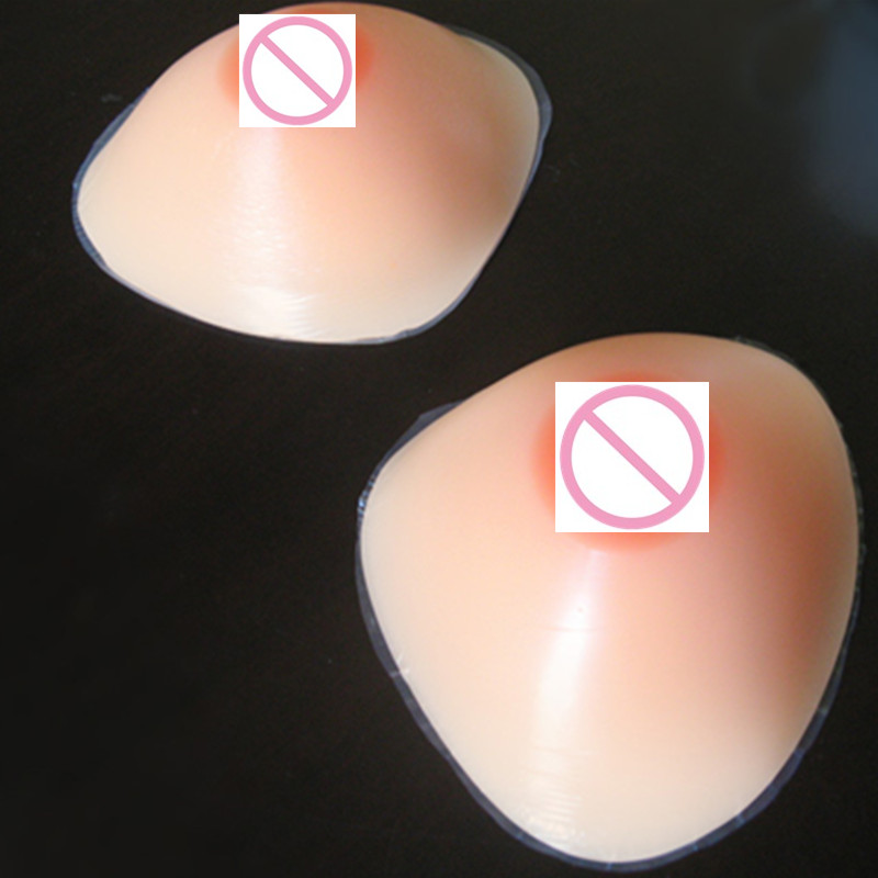 Buy 900g/Pair D/E Cup Triangle Shape Realistic Boobs False Artificial Silicone Breasts Forms Crossdressing Makeup Kit Man Breast