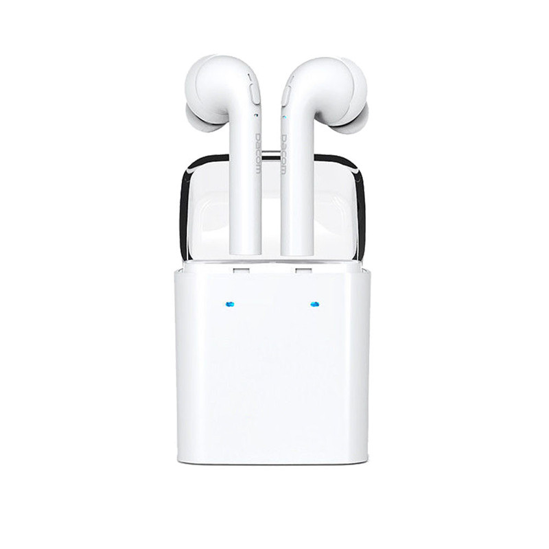 Hot! 2017 Newest Twins Wireless Bluetooth In-ear Earphones Stereo Earpiece For iphone 7 Airpods Android Superior Quality Feb13 carkit mini wireless bluetooth 2 in 1 in ear earphones car phone charger usb dock stereo headphones for dacom iphone 7 airpods