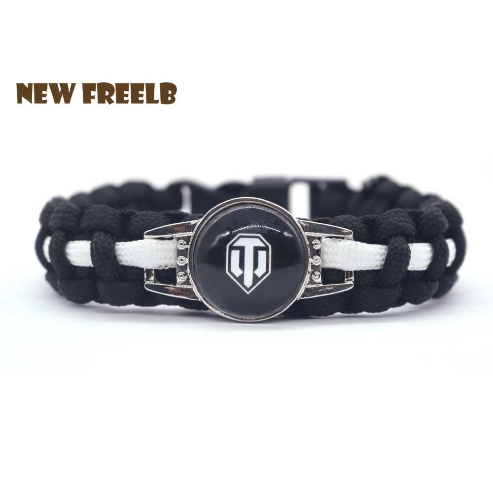 Classic&Hot Game World of Tanks Paracord Bracelets WOT Black Outdoor Travel handmade Jewelry Great Gift for Women and Men Fans