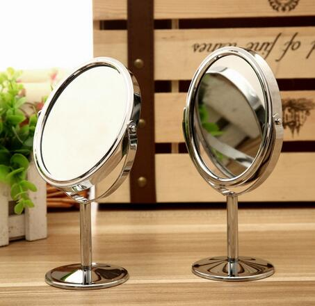 Lady Table Desk Standing Dresser Cosmetic Mirror Double Sided Normal and Magnifying Women Beauty Rotating Portable CANDYKEE