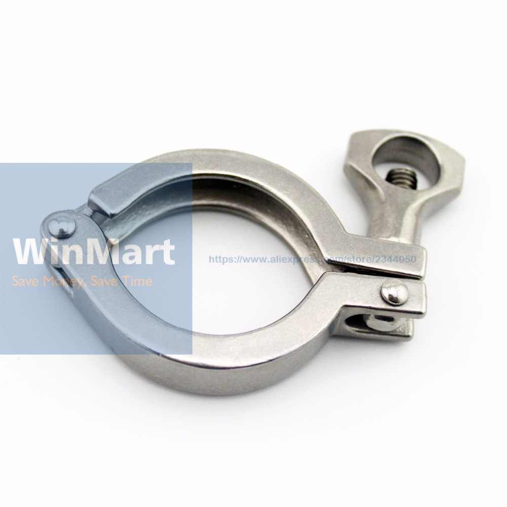 "1.5"" Tri Clamp 50.5mm Ferrule O/D 201 Stainless Steel Tri Clover Sanitary Fitting for home Brewing"