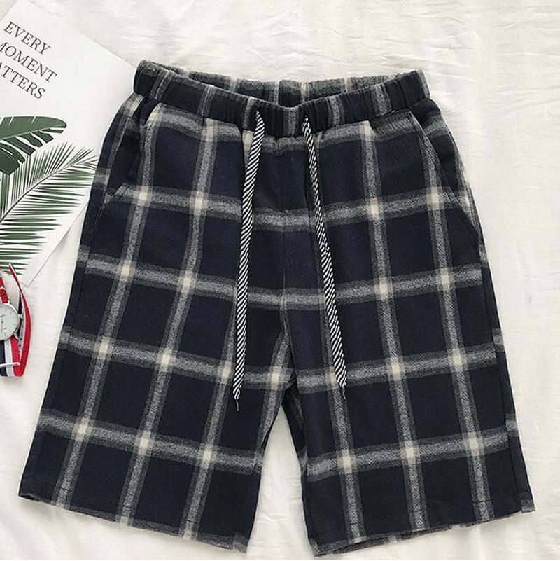 Casual Shorts Pants Elastic-Waist Knee-Length Summer Men Cotton New Size Male S-3XL