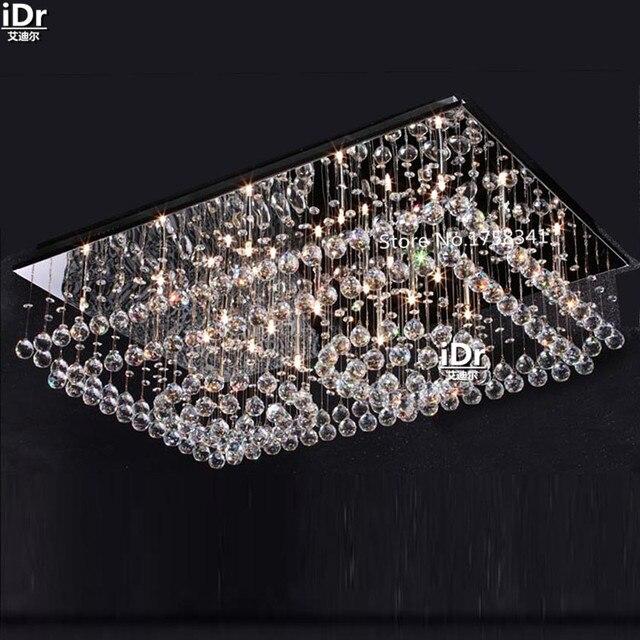 Fhrte Rechteckigen Wohnzimmer Lampe Kristall Schlafzimmer Modernen Minimalistischen Restaurant Lichter Deckenleuchten Rmy 0480