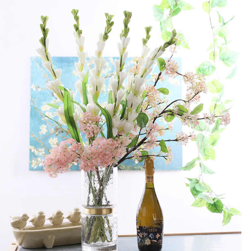 9 Kepala Bunga Sedap Malam Bouquet Buatan Bunga Sutra Plastik Flores Bunga Palsu Untuk Dekorasi Rumah Pernikahan Fleur Artificielle Buatan Bunga Kering Aliexpress