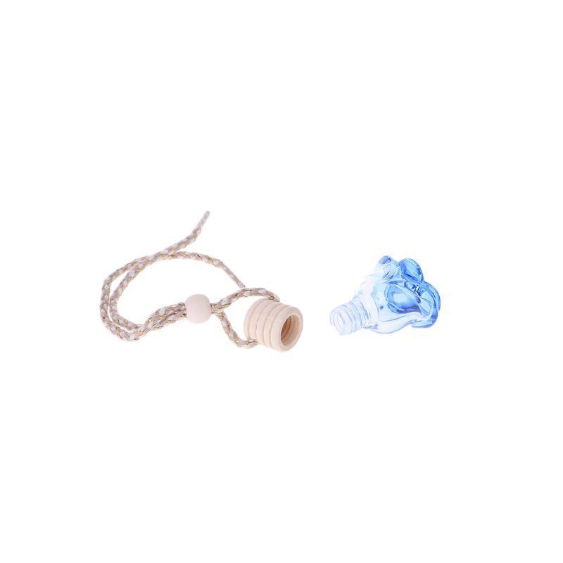 Xuniu Voiture Rose Forme Huiles Essentielles Bouteille De Parfum Vide Bouteille Suspendue Assainisseur dair 3.5x3.5x5cm