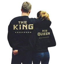 2019 king queen hoodie harajuku womens clothing  hoodies fashion streetwear sweatshirts woman top
