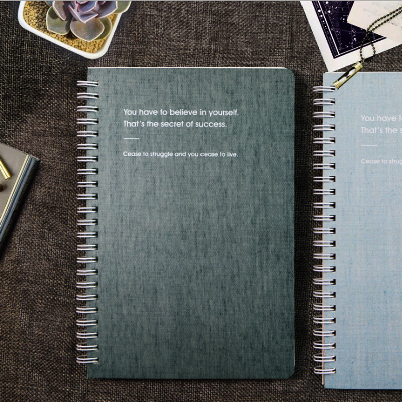 New Simple Coil This Imitation Cloth Book Spot A5 Business Notebook 65 Sheets