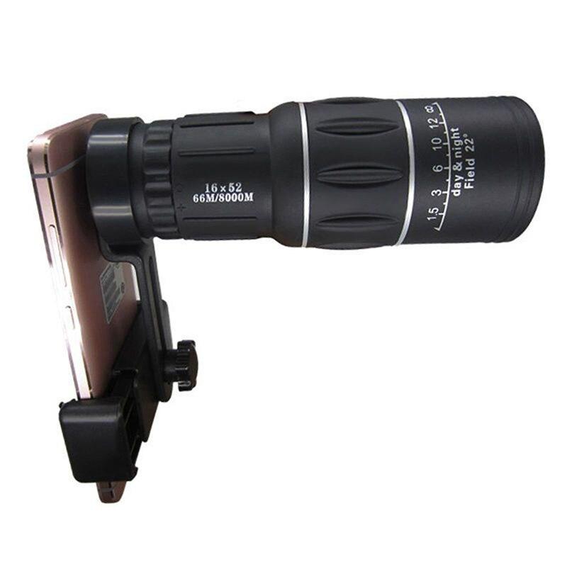 Portátil 16X Monocular telescopio Zoom lente del Clip del teléfono móvil para el iPhone Samsung Huawei lente de la cámara externa