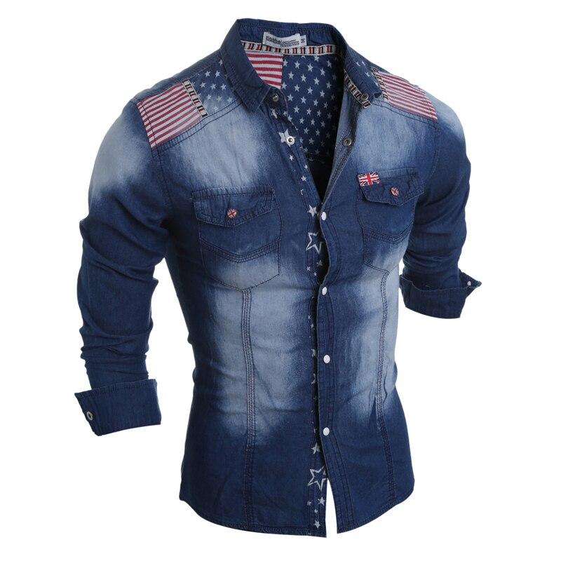 Los La Camisa de Slim Fit Camisas Insignias Mens Camisa Vaqueras de de  Nueva para Manga ... ab9a8cc40f1