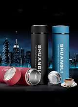 1PC 304 stainless steel vacuum cup frosted leak-proof thermos water bottle High-grade Car Business People Insulation Cup NY 007