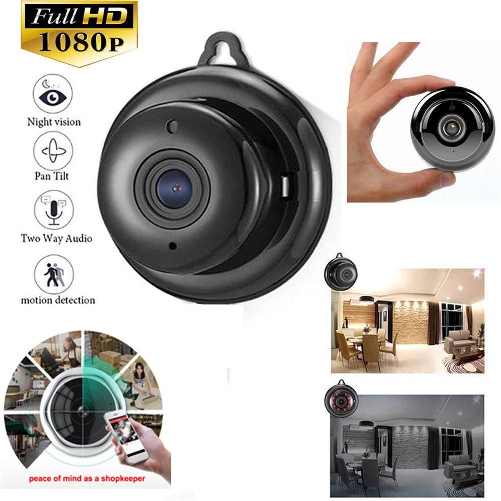 <font><b>Mini</b></font> <font><b>Camera</b></font> Wireless 1080p <font><b>WIFI</b></font> Infrared Night Vision IP Camara Two-way Voice Motion Detection Small Portable Nanny cam hidden image