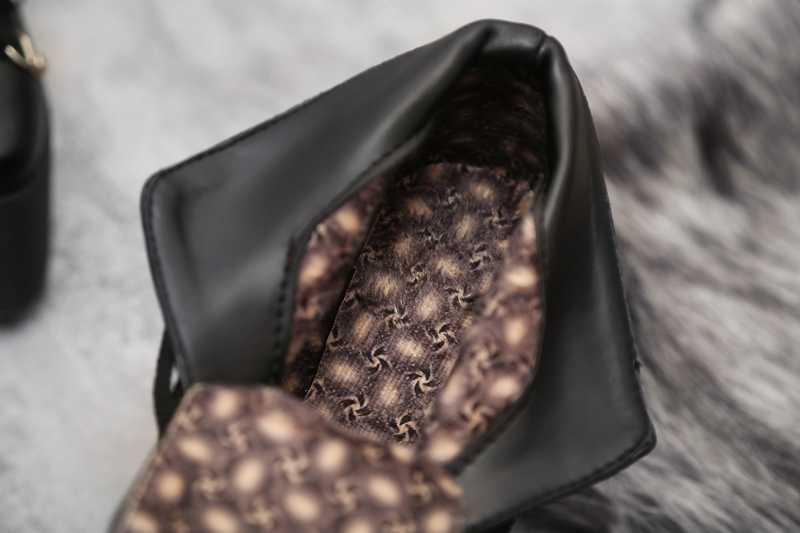 Asileto Đầu Gối Giày Nữ Xe Máy Gothic Giày Đinh Tán Giày Đế Xuồng Đế Giày Cao Gót Giày Người Phụ Nữ Phối Ren Botas Zapatos S750