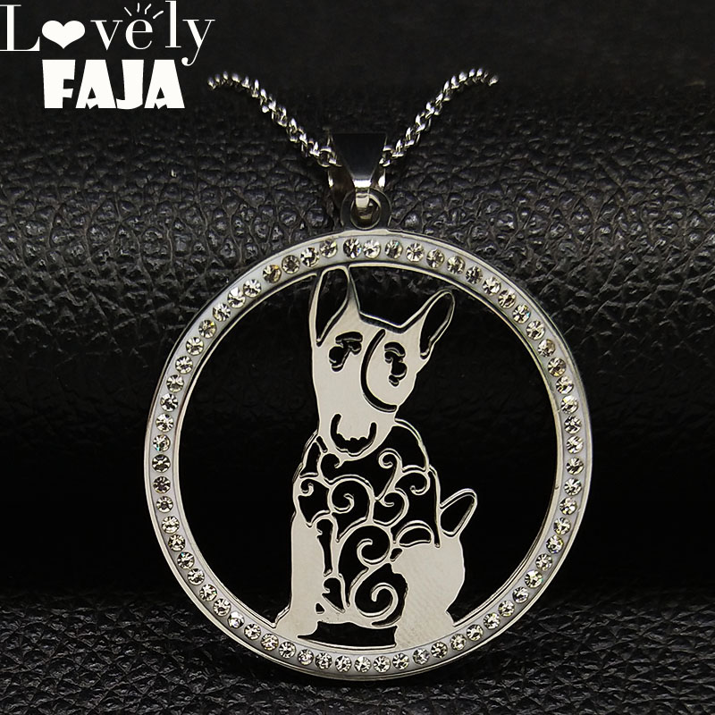 2018 Fashion Bull Crystal Stainless Steel Necklace Women Silver Color Necklaces & Pendants Jewerly collar mujer N186719