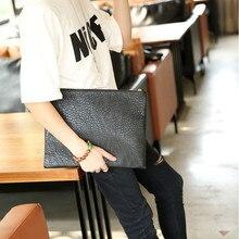 Стильный мужской портфель из искусственной кожи в европейском и американском стиле размером 36X28 см, размер А4, стильная мужская сумка-конверт, W3-017
