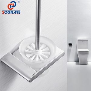 SOGNARE 304 держатель туалетной щетки из нержавеющей стали настенный набор туалетной щетки стеклянные чашки никель матовый аксессуары для ванн...