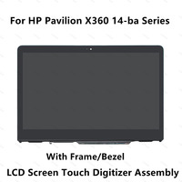 Full LCD Display Touch Screen Glass Assembly+Bezel for HP Pavilion X360 14 BA series 14 ba081nd 14 ba025tu 14 ba008tu 14 ba070tu