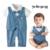 2016 nuevos bebés de los mamelucos del arco de manga corta cuello polka dot bebes mono de una pieza infantil de moda para fiestas formales ropa roupa infantis