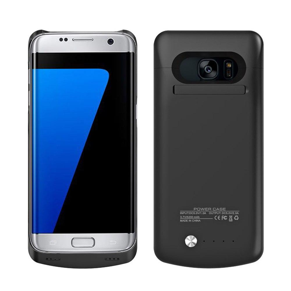 imágenes para S7edge portátil 5200 mah Caja de Batería de Reserva Externa Del Caso Del Cargador Power Paquete de banco Caso de la Cubierta para Samsung Galaxy S7 Borde w/soporte