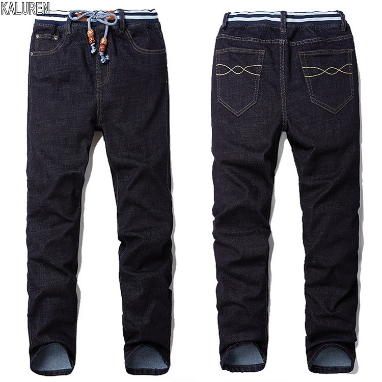 KALUREN Free shipping men jeans male straight plus size 28-48 long trousers loose man hiphop pants extra large hip hop