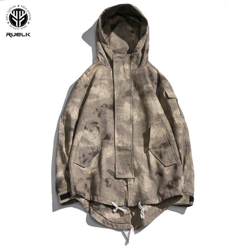 d26cebcbe832 Mode Capuche Camouflage Hip Hop Hommes black Camouflage Veste Coupe À  Couture vent De Sportswear 2019 Zipper Nouveau Streetwear 5wCI6vqx