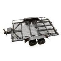 Из металла прочная присоска грузовик и автомобиль трейлер гусеничный 4wd для 1/8 1/10 RC Рок автомобили гусеничный Traxxas TRX 4 осевой SCX10 RC4WD D90 CC01