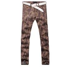2017 new trend straight leg denims lengthy males male printed denim pants cool cotton designer good high quality model trousers MJB026