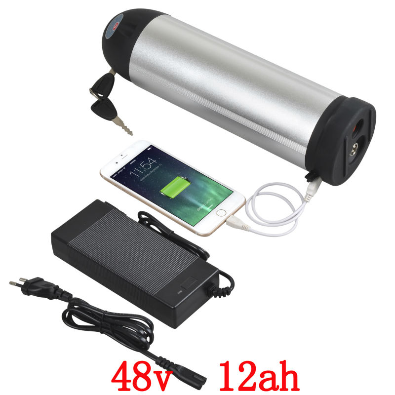 US EU No Tax hot selling eBike lithium 48V 12Ah battery pack with USB port 2A charger for 48V 750W Electric Bicycle free customs taxes super power 1000w 48v li ion battery pack with 30a bms 48v 15ah lithium battery pack for panasonic cell