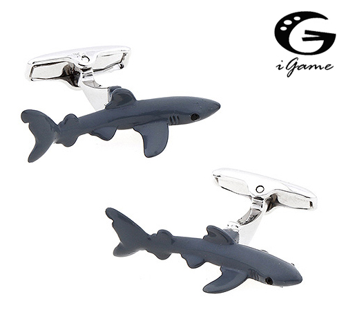 iGame Factory Price Retail Shark Cuff Links Brass Material Novelty Animal Design Gift For Seaman Free ShippingiGame Factory Price Retail Shark Cuff Links Brass Material Novelty Animal Design Gift For Seaman Free Shipping