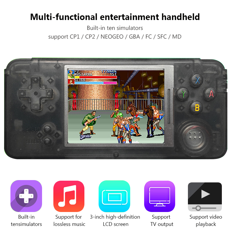 Retro Game Console Portable Mini Handheld Game Players Built-in 1151 For CP1 CP2 FC MD NEOGEO GBA Classic Games Gift For Kids