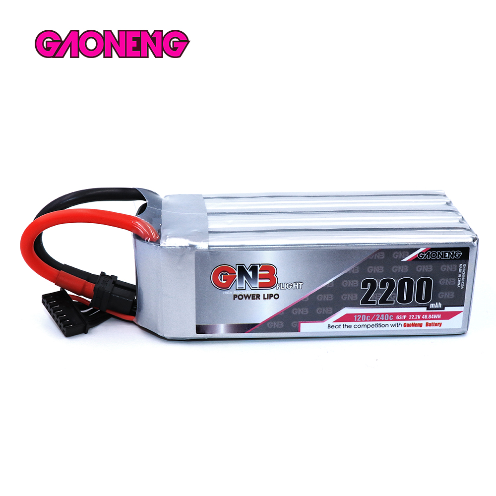 GAONENG GNB 22.2V <font><b>2200mAh</b></font> 120C/240C <font><b>6S</b></font> <font><b>Lipo</b></font> Battery XT60U-F Plug for RC FPV Racing Drone image