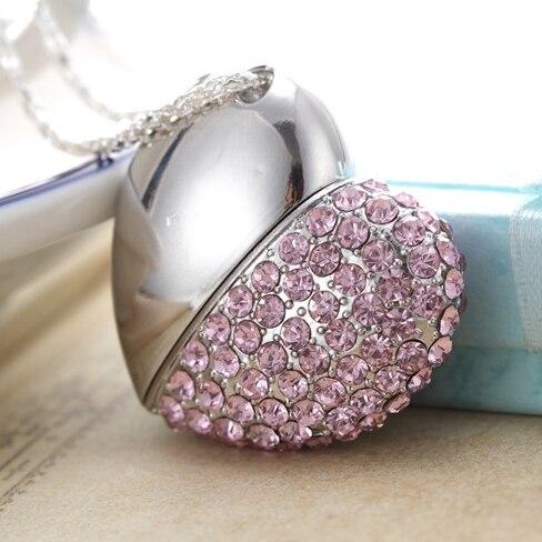 f97dc836ea0ac8 Pink Heart Jewelry Gadget Gift Pendrive 2tb 1tb Memoria Usb Key Cle Usb  Flash Drive 64gb